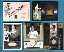 BABE RUTH MICKEY MANTLE GAME USED BAT DON MATTINGLY PHIL RIZZUTO JERSEY CARD JOE