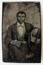 FERROTYPE PHOTO HOMME NOIR BLACK MAN PHOTOGRAPHIE ANCIENNE O778