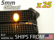 [25x] Yellow 5mm LED Diffused, 1.8V