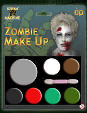 ZOMBIE MULTI PALLET KIT HALLOWEEN SKIN MAKE UP HORROR FACE MAKE UP FANCY DRESS