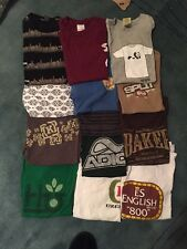 Skate Shirt Lot Mens Small Enjoi Toy Machine Es Krew Chocolate Baker