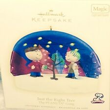 New 2009 Hallmark Ornament Peanuts Gang Just The Right Tree in box With Price
