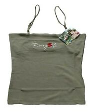 ROXY BY QUIKSILVER GIRLS STRAPPY TOP KHAKI TUBE - SUMMER BARGAIN SIZE T1 (UK 6)