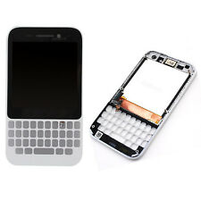 White LCD Display Touch Screen Digitizer Assembly + Frame For Blackberry Q5