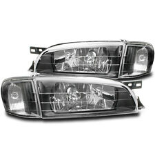 1995-2001 SUBARU IMPREZA BLACK CRYSTAL CLEAR LENS HEADLIGHTS W/CORNER LAMP COMBO