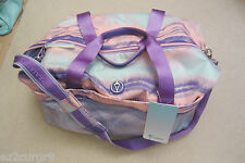 Ivivva Lululemon Bag Gear Up Duffle Ocean Aquamarine Power Purple Lavender Dusk
