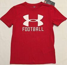 NWT youth Boys' YSM small UNDER ARMOUR t-shirt heatgear FOOTBALL all season UA