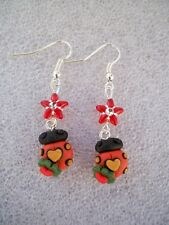 ORECCHINI IN FIMO FATTI A MANO EARRINGS COCCINELLA LADY BUG