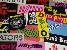 70s Punk and New Wave Band Stickers Sex Pistols, Clash, Devo, Buzzcocks, Blondie