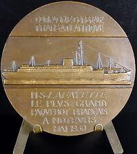 Médaille 1930 Paquebot M S marquis de La Fayette Gilbert du Motier Steamer medal