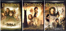 Lord of the Rings Trilogy DVD Lot 1 2 3 collection 6 disc set Widescreen