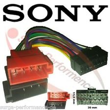 SONY DIN ISO Auto Radio Adaptador Cable Enchufe 16 Pin