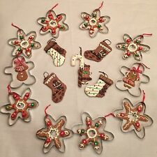 Lot 15 Christmas Ornaments Cookie Gingerbread Candy Canes NEW