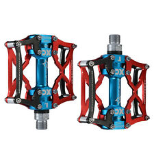 ROCKBROS MTB Cycling Pedals Platform Aluminum Alloy 9/16'' Spindle Red