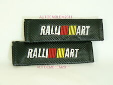 Mitsubishi Ralliart Carbon Fiber Style Racing Seat Belt Shoulder Pads Cushion