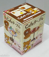 Dollhouse Miniatures San-X Rilakkuma Cafe Table & Chairs Set - Re-ment , h#301
