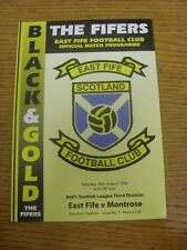 28/08/1999 East Fife v Montrose  .  Thanks for taking the time to view this item