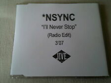 NSYNC - I'LL NEVER STOP (RADIO EDIT) - UK PROMO CD SINGLE