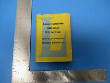 Vintage 1956 Mini Swedish-Deutsche Dictionary Translator  S1198