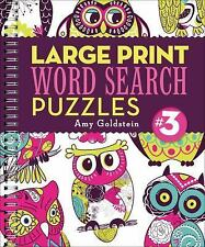 Large Print Word Search Puzzles 3 by Amy Goldstein (2015, Spiral)