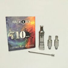 2X  Ceramic Donut atomizer kit with tungsten heating element pack 3x coils