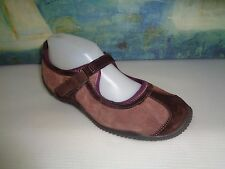 MERRELL 'Circuit MJ' Suede Mary Jane Shoe Brown/Purple Trim US 7.5/EU 38 Womens