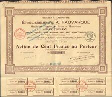 Action: Etablissements E. FAUVAQUE - JEAN THOMANN, Cycles & Motocycles (M)