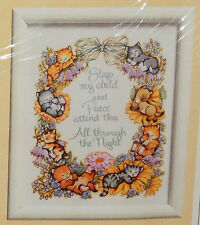 Vintage All Through The Night Sampler Childs Prayer Animals Embroidery Kit