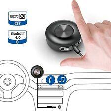 AVANTREE Coche Bluetooth Auxiliar Receptor, 4.0 aptX para música y llamadas de calidad, a
