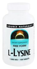 Source Naturals L-Lysine, 1,000 mg, 100 Tablets