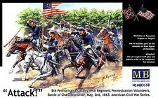 Master Box MB 1/35 3550 US Civil War : 8th Pennsylvania Cavalry Regiment ATTACK
