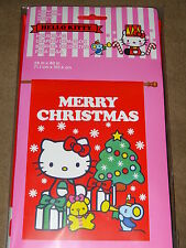 "Hello Kitty Merry Christmas Large House Flag 28""X40""-New In Package"