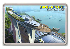 SINGAPORE MARINA BAY FRIDGE MAGNET SOUVENIR NEW