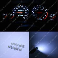 10x White T5 73 74 85 Gauge Instrument Dashboard Speedo LED Light Bulb For Ford