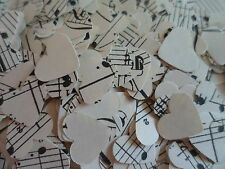 250,Shabby Chic/ Vintage Music//Wedding /Confetti/Hearts