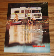 Original 1974 Winnebago Indian Sales Brochure 74 D-23 D-23L D-25