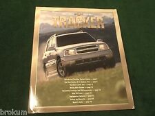 2001 CHEVY TRACKER ZR2 SALES BROCHURE MINT ORIGINAL W/ COLOR POSTER (BOX 537)