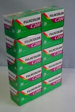 10 Rolls Fujifilm Fujicolor C200 35mm Color Print Film 36 Exp Fuji Factory SEAL!