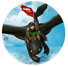 How to train your dragon Round Edible Birthday Cake Topper Frosting Sheet