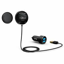 Riida GB01 Wireless Bluetooth Car Kit FM Transmitter with LCD Screen and Hands F
