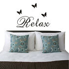 Relax Butterfly Wall Art Quote Stickers Vinyl Decal Removable Mural DIY #1