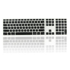 Black Ultra Thin silicone keyboard cover with a numeric keypad for Apple iMac