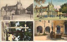 Lot 4 cartes postales anciennes NICE couvent cimiez