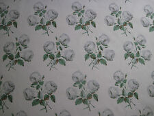 "COLEFAX AND FOWLER FABRIC DESIGN ""Bowood"" 12 METRES GREY & GREEN 100% COTTON"