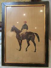 lithographie Ernest A BODOY jockey pur sang course hippique 19 eme legras