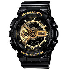 CASIO Brand G-SHOCK Men Analog and Digital Diving Wrist Watch Black GA-110GB-1A