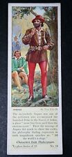 As You Like It    Shakespeare   JAQUES   1930's Vintage Card