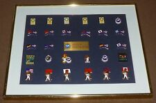 1990 GOODWILL GAMES COLLECTOR PIN SET (28) SEATTLE, WA FRAMED FLAGS MASCOT