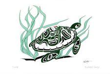 Turtle Richard Shorty Art Card Northern Tuchone Yukon Native