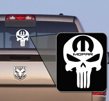 Mopar Punisher Decal - RAM, Dodge, Jeep, Chrysler (White)